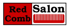 Red Comb Salon Logo